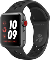 Apple Watch Nike+ Series 3 38mm Caja de aluminio en gris espacial con correa Nike Sport antracita/negro [Wifi + Cellular]