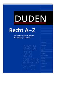 Duden Recht A - Z: Fachlexikon für Studium, Ausbildung und Beruf