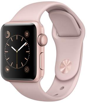 Apple Watch Series 1 38 mm Aluminiumgehäuse roségold am Sportarmband sandrosa [Wi-Fi]