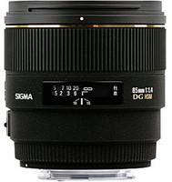 Sigma 85 mm F1.4 DG EX HSM 77 mm Objetivo (Montura Sigma SA) negro