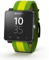 Sony SmartWatch 2 40,6mm nero con cinturino in tessuto verde [Brazil Edition]