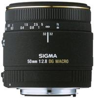 Sigma 50 mm F2.8 DG EX Macro 55 mm filter (geschikt voor Canon EF) zwart