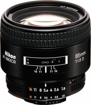 Nikon AF NIKKOR 85 mm F1.8 D 62 mm filter (geschikt voor Nikon F) zwart