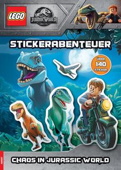 LEGO® Jurassic World - Stickerabenteuer - Chaos im Dinopark [Taschenbuch]