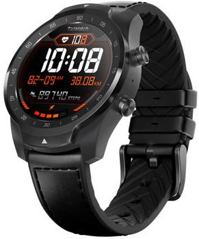 Mobvoi Ticwatch Pro 45mm shadow black con cinturino in pelle nero [Wifi]