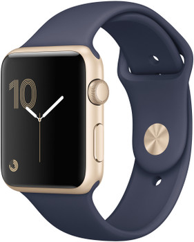Apple Watch Series 2 42 mm aluminium goud met sportarmband [wifi] blauw