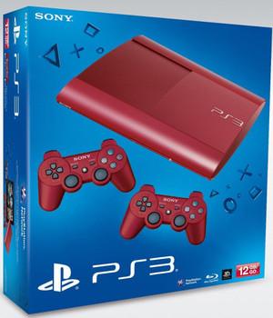 Sony PlayStation 3 super slim 12 GB SSD Garnet Red  [inkl. 2 Wireless Controller Red]
