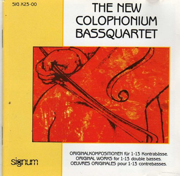 The New Colophonium Bassquart. - Originalkompositionen für 1-13 Kontrabässe
