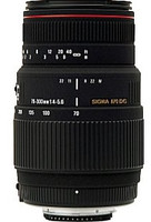 Sigma 70-300 mm F4.0-5.6 APO DG Macro 58 mm Objetivo (Montura Sigma SA) negro