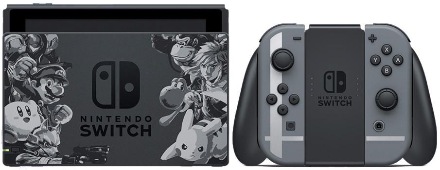 Nintendo Switch 32 GB [Super Smash Bros. Ultimate Edition Incl. Controller grigio/grigio, senza gioco] nero