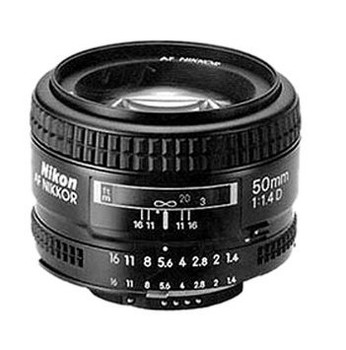 Nikon AF NIKKOR 50 mm F1.4 D 52 mm Obiettivo (compatible con Nikon F) nero