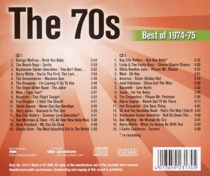 Diverse - The 70s - Best of 1974 - 75