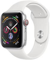 Apple Watch Serie 4 44 mm alloggiamento in alluminio argento con Loop sportivo bianco [Wi-Fi + Cellular]