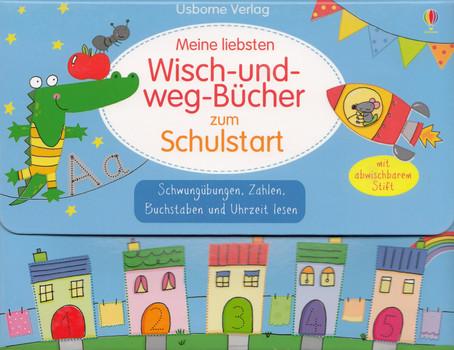 Meine liebsten Wisch-und-weg-Bücher zum Schulstart [4 Bände, Broschiert, inkl. Stift & Koffer]