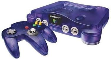 Nintendo 64 paars
