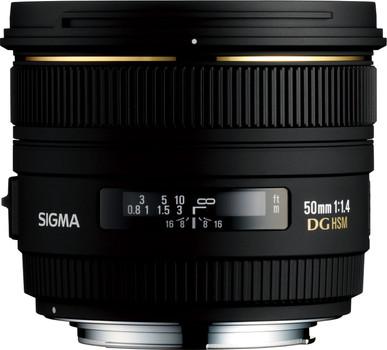 Sigma 50 mm F1.4 DG EX HSM 77 mm Obiettivo (compatible con Nikon F) nero