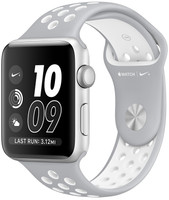 Apple Watch Nike+ Series 2 42mm Caja de aluminio en plata con correa Nike Sport plata blanco [Wifi]