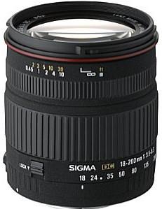 Sigma 18-200 mm F3.5-6.3 DC 62 mm Obiettivo (compatible con Canon EF) nero
