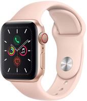 Apple Watch Series 5 40 mm Aluminiumgehäuse gold am Sportarmband sandrosa [Wi-Fi + Cellular]