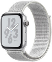 Apple Watch Nike+ Serie 4 44 mm alloggiamento in alluminio argento con Loop sportivo Nike summit bianco [Wi-Fi]
