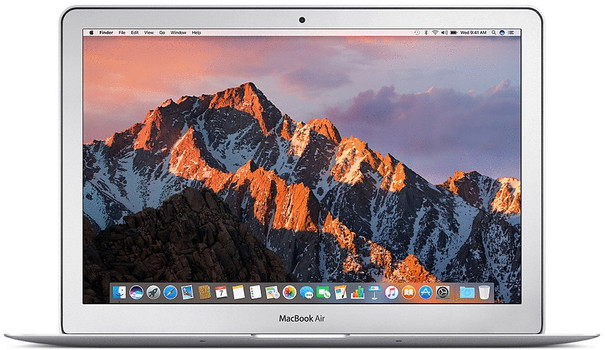 Apple MacBook Air 13.3 (glanzend) 1.8 GHz Intel Core i5 8 GB RAM 256 GB PCIe SSD [Mid 2017, QWERTY-toetsenbord]
