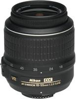 Nikon AF-S DX NIKKOR 18-55 mm F3.5-5.6 G VR 52 mm Objectif (adapté à Nikon F) noir