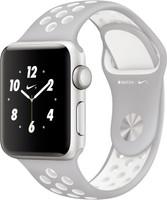 Apple Watch Nike+ Series 2 38mm cassa in alluminio argento con cinturino Nike Sport argento bianco [Wifi]