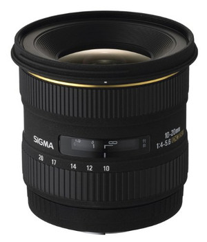 Sigma 10-20 mm F4.0-5.6 DC EX HSM 77 mm filter (geschikt voor Nikon F) zwart