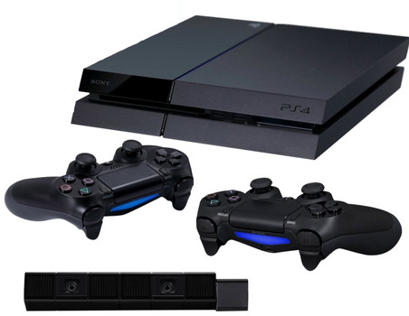 Sony PlayStation 4 (500 GB)  [incl. 2 draadloze controllers, camera] zwart