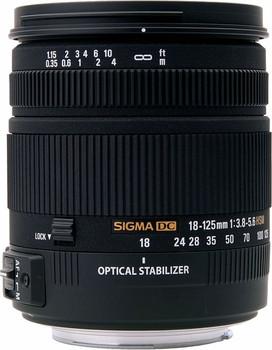 Sigma 18-125 mm F3.8-5.6 DC HSM 67 mm filter (geschikt voor Sony A-mount) zwart