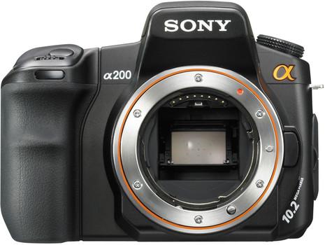 Sony Alpha 200 zwart