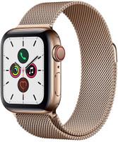 Apple Watch Series 5 40 mm Cassa in acciaio inossidabile color oro con Loop in maglia milanese oro [Wi-Fi + Cellular]