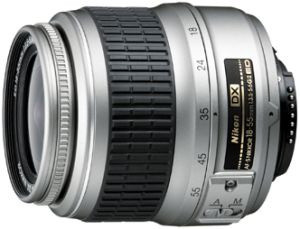 Nikon AF-S DX NIKKOR 18-55 mm F3.5-5.6 ED G 52 mm filter (geschikt voor Nikon F) zilver