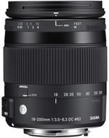 Sigma C 18-200 mm F3.5-6.3 DC HSM OS Macro 62 mm Objectif (adapté à Nikon F) noir