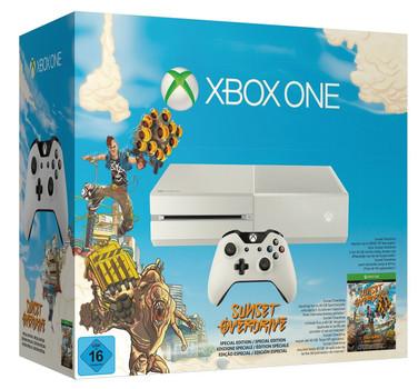 Microsoft Xbox One 500 GB Special Sunset Overdrive Edition [mando inalámbrico incluído, sin juego] blanco