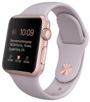 Apple Watch Sport 38 mm en or rosé avec Bracelet Sport lavende [Wi-Fi]