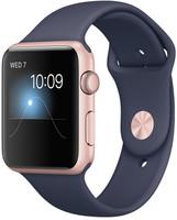 Apple Watch Series 1 42mm Caja de aluminio en oro rosa con correa deportiva azul noche [Wifi]