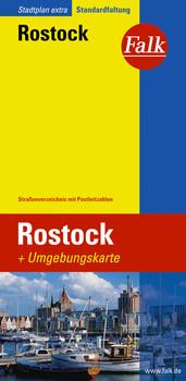 Falk Stadtplan Extra Standardfaltung Rostock - Falk Kartografie