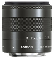 Canon EF-M 18-55 mm F3.5-5.6 IS STM 52 mm Obiettivo (compatible con Canon EF-M) nero