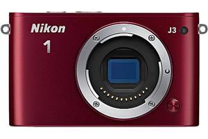 Nikon 1 J3 Systeemcamera body rood
