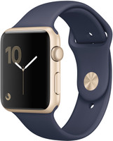 Apple Watch Series 2 42mm Caja de aluminio en oro con correa deportiva azul noche [Wifi]
