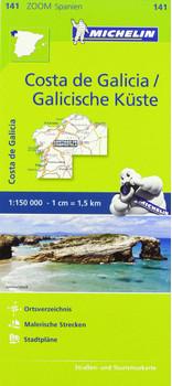Michelin Zoomkarten Spanien 141: Costa de Galicia / Galicische Küste - Straßen- und Tourismuskarte 1:150 000 [Landkarte]