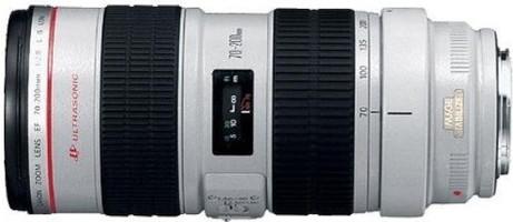 Canon EF 70-200 mm F2.8 IS L USM 77 mm filter (geschikt voor Canon EF) wit