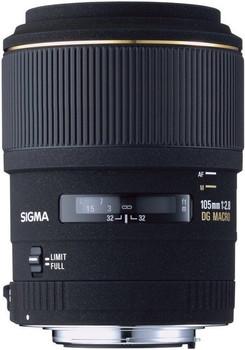 Sigma 105 mm F2.8 DG EX Macro 58 mm filter (geschikt voor Sigma SA) zwart