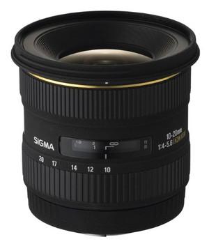 Sigma 10-20 mm F4.0-5.6 DC EX 77 mm Objetivo (Montura Pentax K) negro