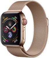 Apple Watch Series 4 40mm caja de acero inoxidable en oro y pulsera Milanese Loop en el mismo tono [Wifi + Cellular]