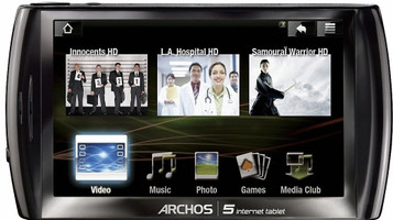 "Archos 5 Internet Tablet 4,8"" 160 GB [wifi] zwart"