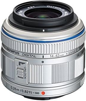 Olympus M.Zuiko Digital 14-42 mm F3.5-5.6 II 37 mm filter (geschikt voor Micro Four Thirds) zilver