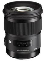 Sigma A 50 mm F1.4 DG HSM 77 mm filter (geschikt voor Canon EF) zwart