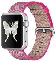 Apple Watch Sport 38 mm grise bracelet en nylon tissé tissé  rose [Wi-Fi]